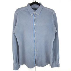 Altea Coat Front Pique Knit Button Up Shirt
